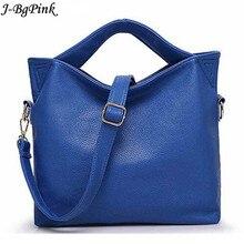 016 New fashion leather handbags designer brand women messenger bag shoulder ladies cowhide totes
