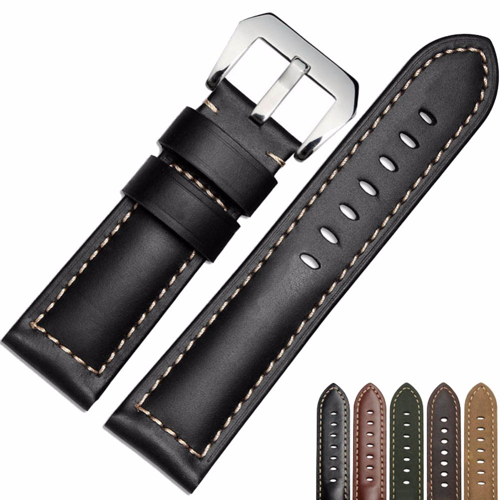где купить NP24 20mm 22mm 24mm 26mm Leather Watch Strap Watch Band Man Watch Straps with Stainless Steel Buckle fit for Tissot/Panerai по лучшей цене