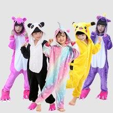 Купить с кэшбэком Girl child pajamas unicorn animal pajamas winter children pijama de unicornio infantil pajamas licorne enfant pijamas 4-12 Years