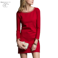 ElaCentelha Women Summer Autumn Dress 2016 Long Sleeve Skirt In Cultivate One S Morality OL Pure