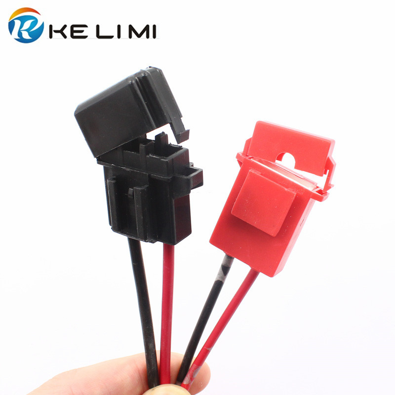 KE LI MI 4x Automotive medium Size In line Power Socket Standard Fuse Box Holder Clip short circuit fuse box horror prop electric animated halloween