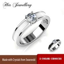 Купить с кэшбэком Her Jewellery Copper metal ring, ceramics jewelry and accessories, fashion jewelry ring