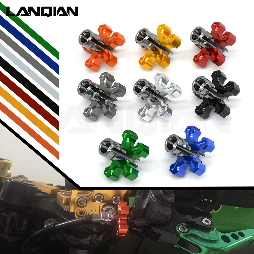 For KAWASAKI Z650 Z900 Z800 HONDA CBR600RR YAMAHA R1 R3 R6 R25 Clutch Cable Wire Adjuster M8/M10 Green Motorcycle Accessories