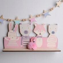 Creative Bedroom Wall Frame DIY Log Flamingo Storage Rack Debris Placed Cute Home Decoration Childrens Room 1