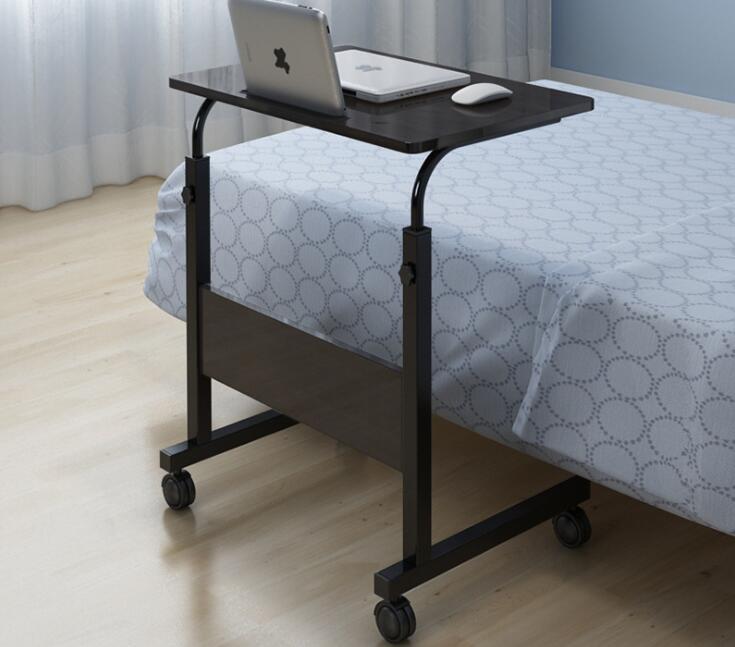 60x40cm Movable Computer Desk Adjustable Laptop Desk Bedside Lifting Table For Bed Sofa Simple Modern Design