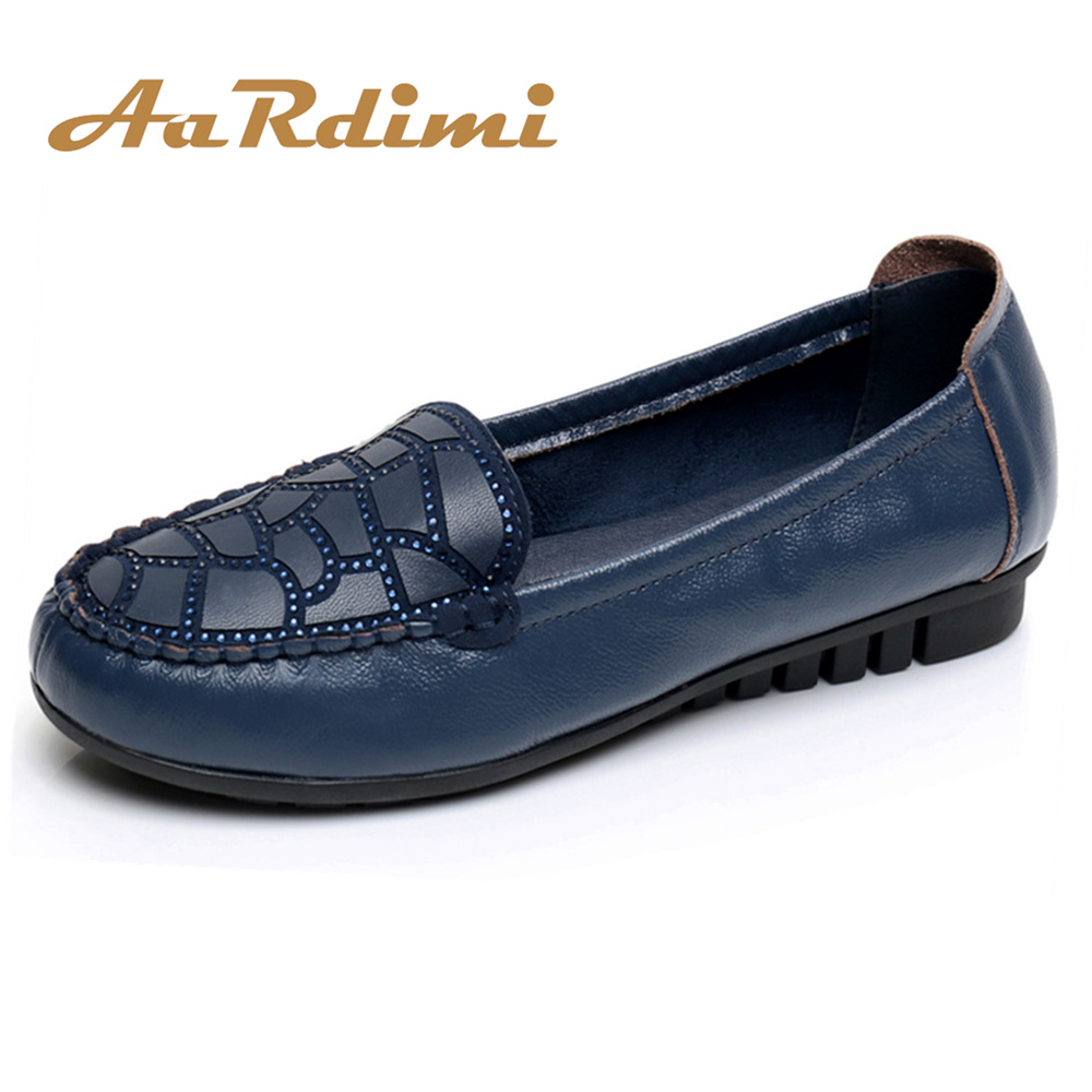 Genuine Leather Shoes Women Flats Shallow Mouth Loafers Shoes Female Ballerina Ballet Flats Fashion Soft Casual Ladies Shoes mcckle woman fashion plus size shoes women black flats loafers shoes casual comfort shallow mouth work shoes brand ladies shoes