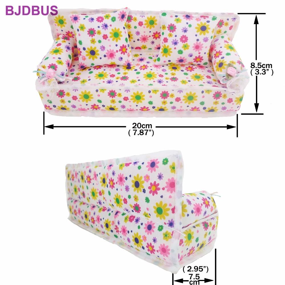 Bonecas 8 itens/lote = 1x sofá Color : Colorful