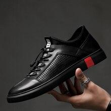 Erkekler Hakiki Deri Oxfords Ayakkabı İtalyan Tarzı Erkek Ayakkabı Büyük Boy Ayakkabı Erkekler için Nefes Düz Dantel up Ayakkabı