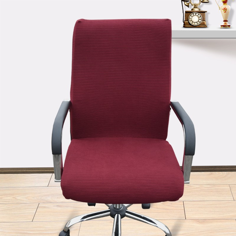 Large Size Office Computer Chair Cover Side Zipper Design Arm Recouvre Chaise Stretch Rotating