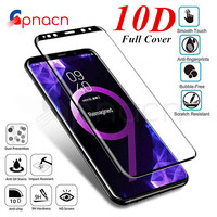 10D Full Cover Screen Protector Tempered Glass on the For Samsung Galaxy S8 S9 Plus S7 Edge Glass Note 8 9 A6 A8 Plus Glass Film Phone Screen Protectors