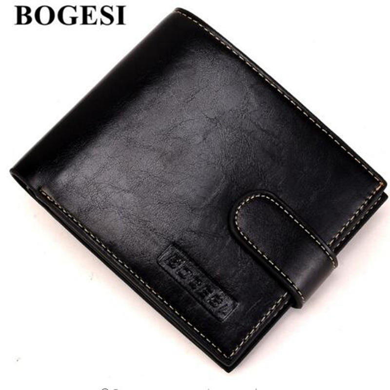 BOGESI New Business Men's Wallets Famous Brand New PU Wallet Design Loop Wallet Card Holder With Coin Purse Wallet Coin Pocket