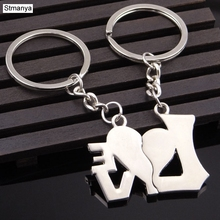 I Love You Heart Keychain Ring Keyring Lover Romantic Creative New Chaveiro Couple Key Chain Best Gift