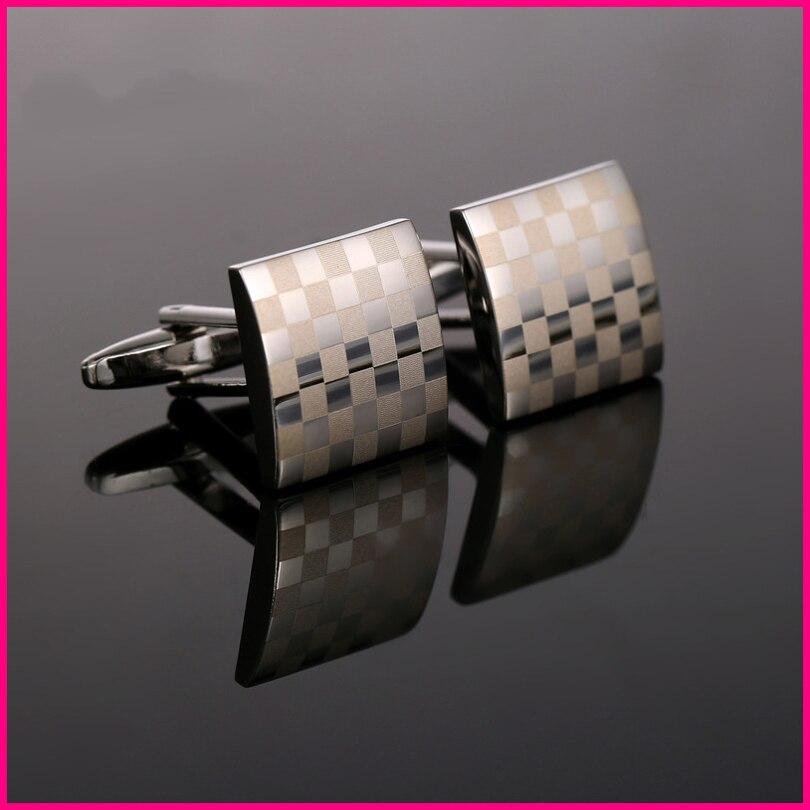 Для мужчин запонки подарок на день отца высококлассные бизнес классический лазерный мульти-сетка запонки с ПУ крокодил запонки подарок кор...