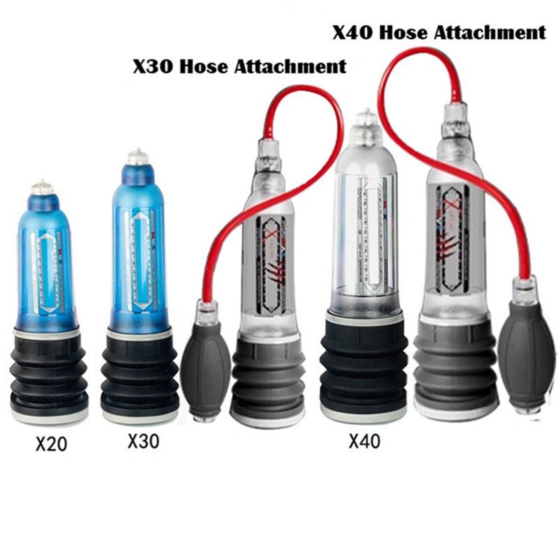 Hidroterapia X20 X30 X40 Xtreme Agua Bomba de pene de la bomba de vacío de la ampliación proextender pene extensor juguetes sexuales para hombres