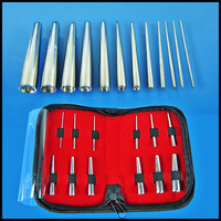 BOG 316L Steel Insertion Pins Taper Expander Stretching Kit Concave Ear Taper Set Professional Body Piercing Tool 12PCS/Kit