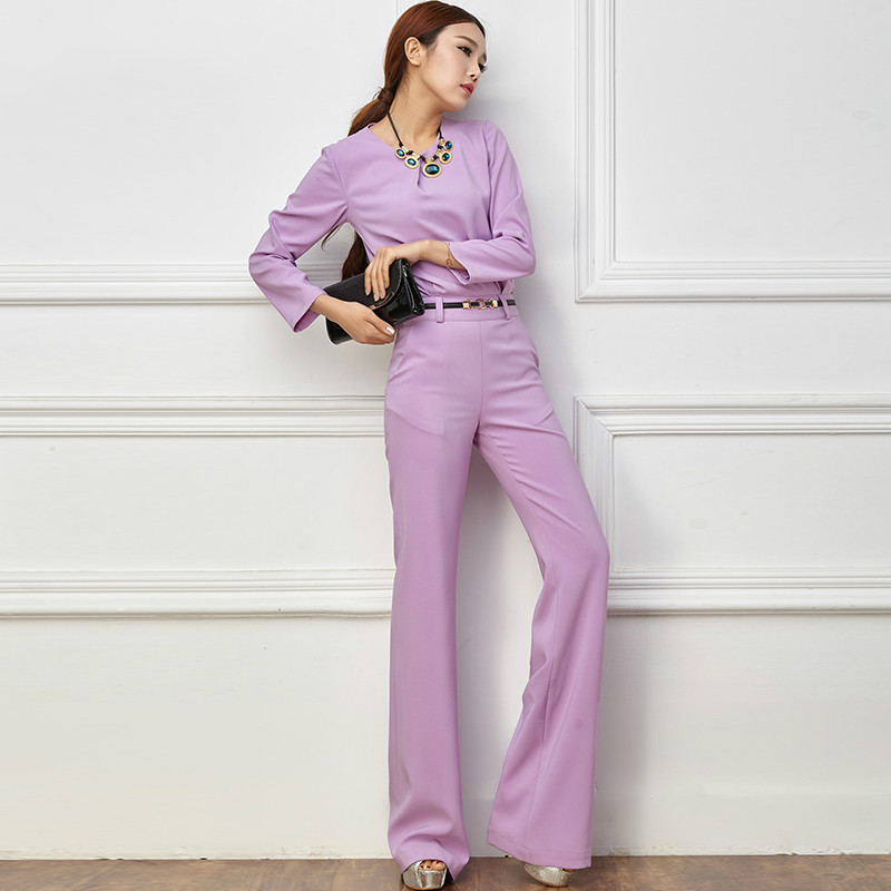 2018 Women Spring Summer Jumpsuit Sexy calf length Sleeve Bodysuit Office Lady Solid Full Length Straight Jumpsuits