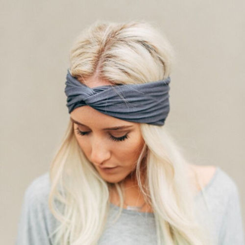 1PC New Stylish Women Knotted Hairband Cotton Elastic Turban Twisted Cross  Headband Sport Running Head Wrap Hair Accessories-in Women s Hair  Accessories ... 9260b3d323e