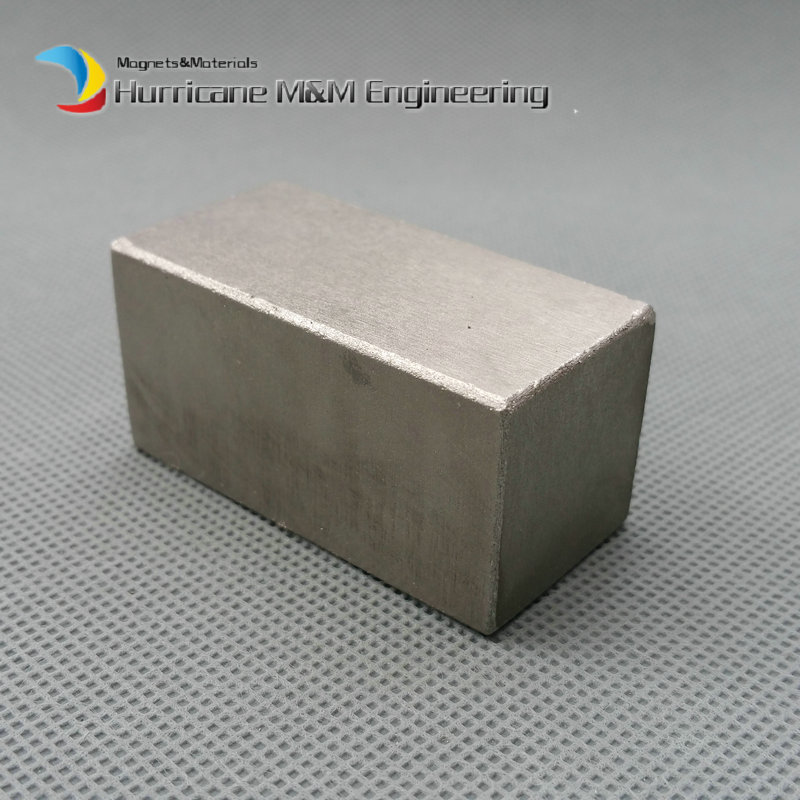 2 pcs SmCo Magnet Block 50x25x25 mm 2 Bar YXG24H, 350degree C High Temperature Mortor Magnet Permanent Rare Earth Magnets trouble magnet 2