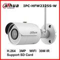 Dahua Wireless IP Camera IPC-HFW2325S-W 3MP IR 30M Built-in WIFI SD Card Slot Network Outdoor Bullet IP WIFI Camera CCTV Camera