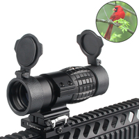 Tactical 30mm 3X Magnifier Scopes Optics Focus Adjusted Fits Red Dot Sight with Picatinny Weaver Rail Mount With Covers HT6 0067