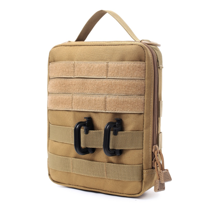 Emergency First Aid Kit Bag Outdoor EDC Molle Tactical Pouch Bag Wear-resistant Waist Pack Travel Camping Bicycle Equipment New(China)