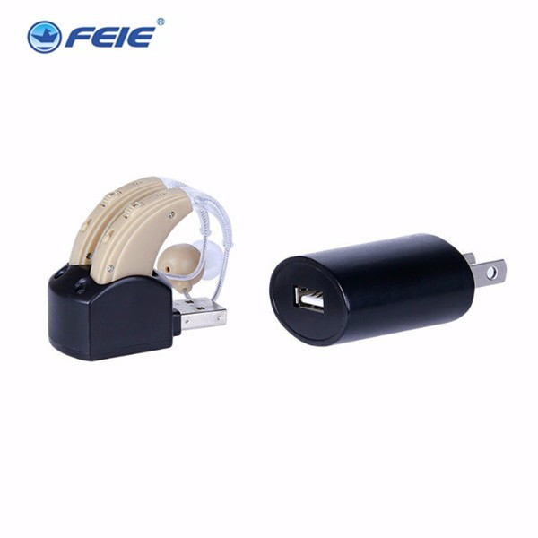 USB Hearing Aid Rechargeable MIni BTE Enhancement Headphone Sound Amplifier Ajustable  S-109S free shipping open fitting programmable bte hearing aid 7 channels sound hearing amplifier for treatment tinnitus my 26 battery free shipping