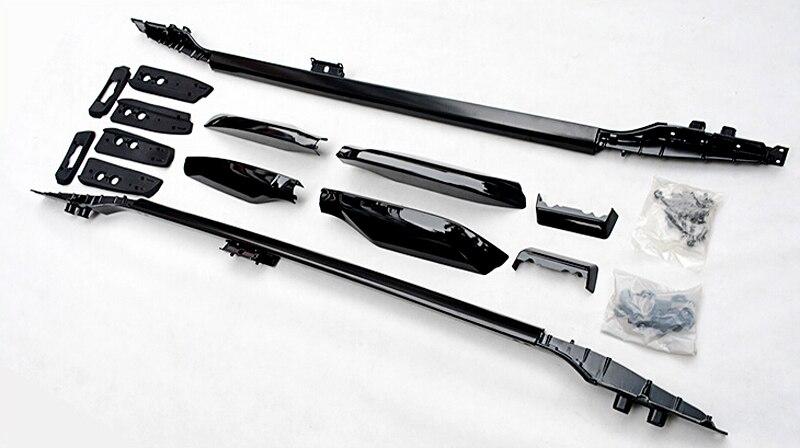 For Toyota Land Cruiser Prado FJ150 2010 2011 2012 2013-2015 2016 2017 2018 Roof Rails Rack Luggage Carrier Bars car styling