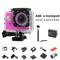 Mini Camera Go Pro Style Action Camcorders Waterproof Sport Cam 1080P Logo 720P HD Helmet Camera Sport DV 2pcs battery Monopod
