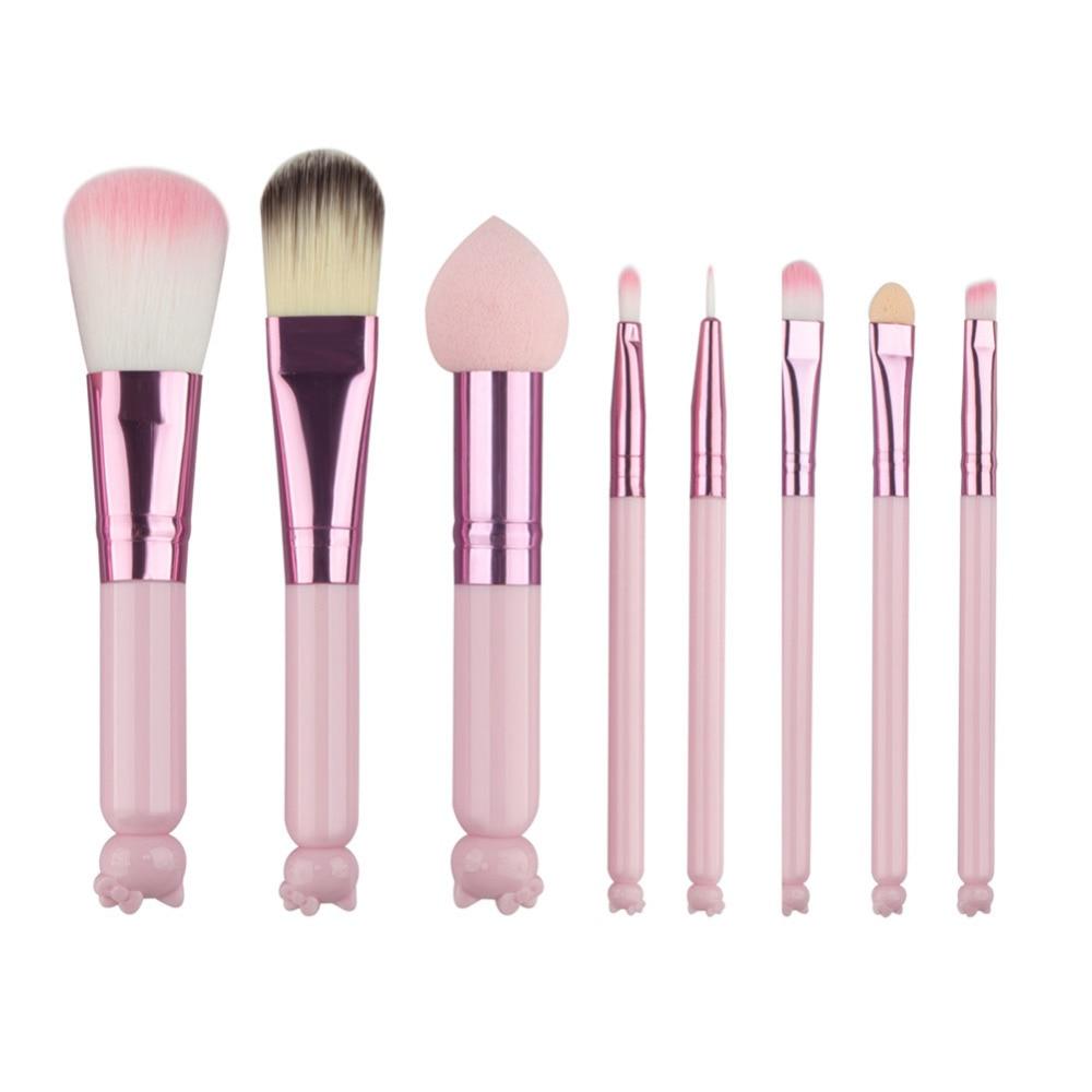 Najnoviji 8pcs Pink Animal Glava šminka Postavi Pro puder Foundation - Šminka
