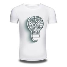DY 208 Mens T Shirts Lamp Printed Hiphop 100 Cotton Short Sleeved Summer Interesting TShirt Mens