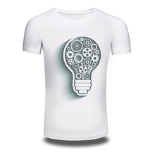 DY-208 Mens'T Shirts Lamp Printed Hiphop 100%Cotton Short-Sleeved Summer Interesting TShirt Mens White XXXL