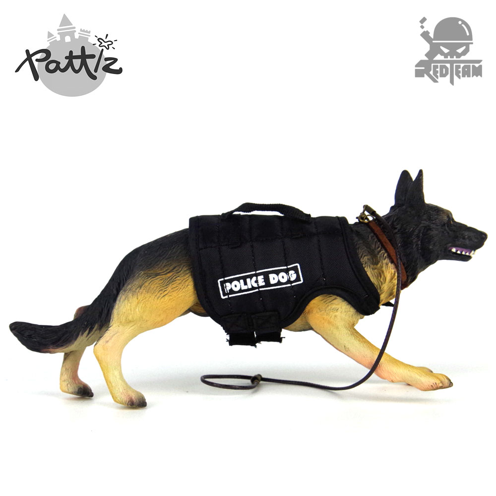 Pattiz Police Dog Toy <font><b>1/6</b></font> <font><b>Scale</b></font> <font><b>Action</b></font> <font><b>Figure</b></font> Accessories Military Soldiers German Shepherd Toys Mini Animal <font><b>Figures</b></font> Adult Gift image