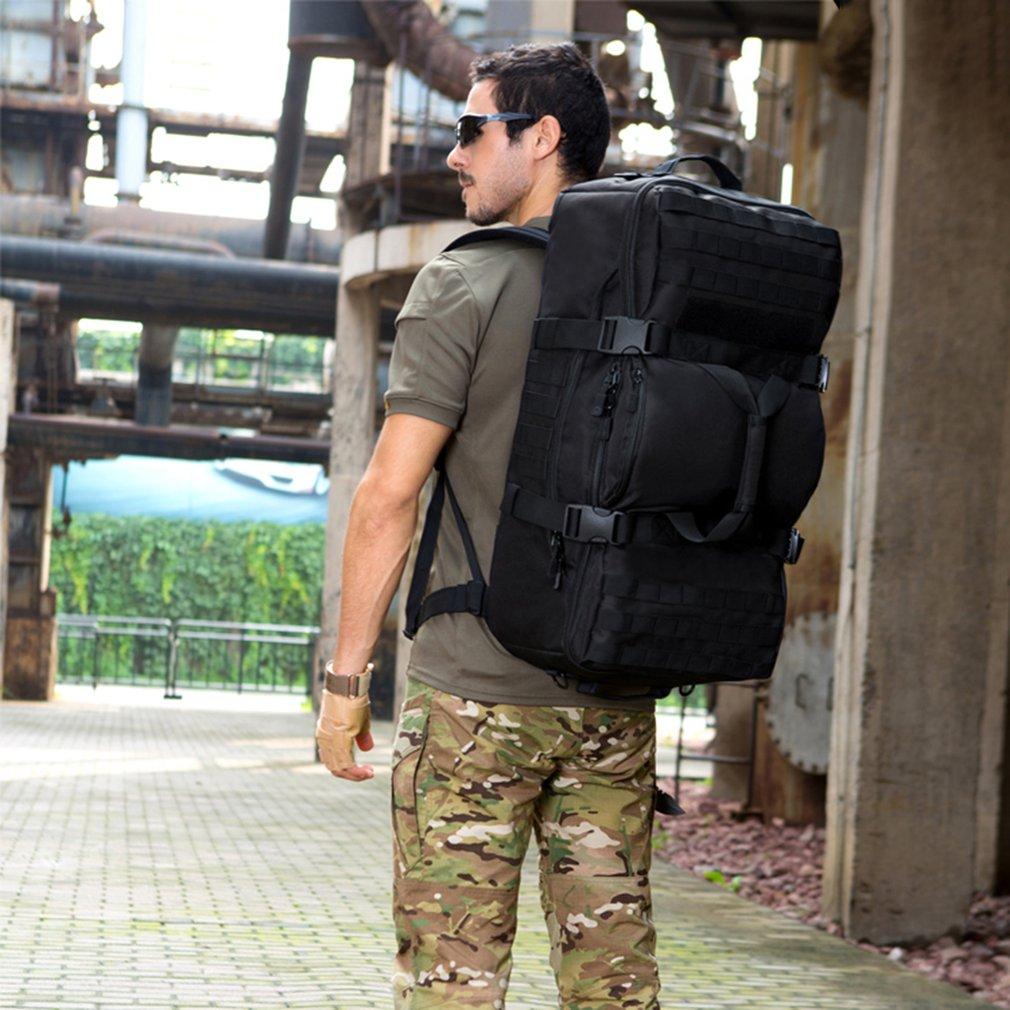 60L Double Usage Sac À Dos En Plein Air Hommes Femmes Sac de Sport Militaire Tactique Sacs Randonnée Camping Étanche résistant à l'usure En Nylon Sac