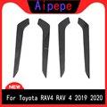 Для TOYOTA Rav4 (XA50)  2019  2020  декоративная накладка для внутренней двери автомобиля  декоративная накладка на корпус  ободок для стайлинга