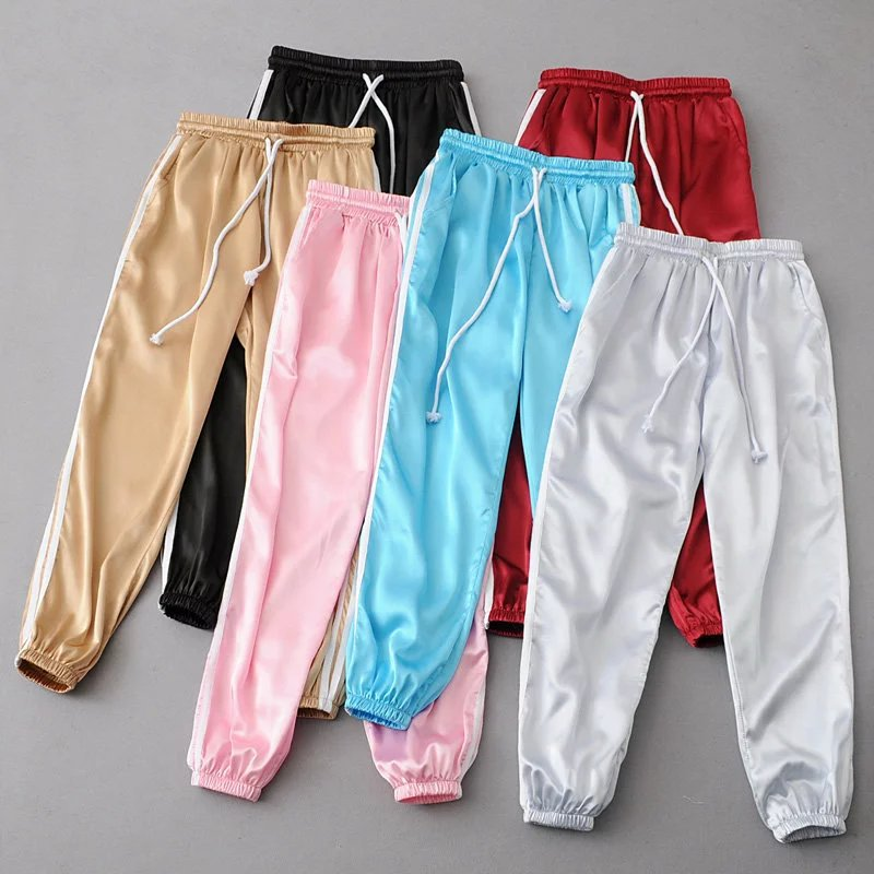 10 Color Sweatpants Women Pants 2017 Joggers Casual Baggy Pink Side Striped High Waist Lady Trousers Pantalon Femme