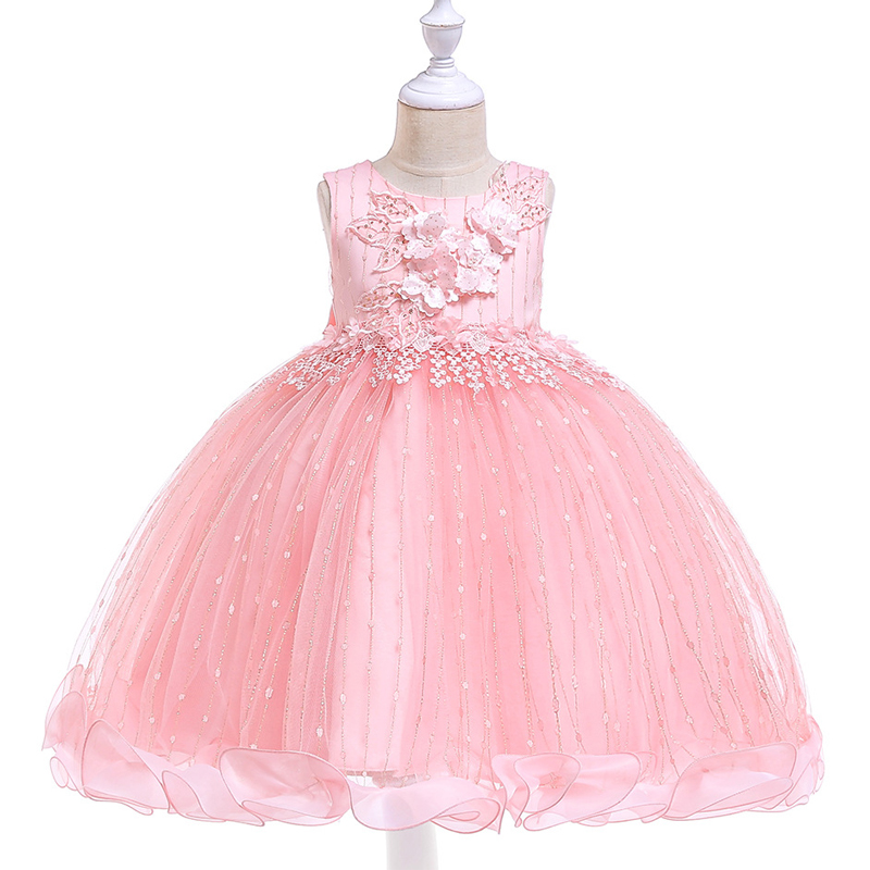 2019 Summer   Flower     Girl     Dresses   For Weddings Baby   Girl   Clothes Party Princess   Dress   Costume 3 -10 years Children Clothing L5101