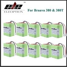 Оптовая Продажа 10x 7.2 Вольт ELEOPTION 2.5Ah 2500 мАч Ni-MH 7.2 В Перезаряжаемые Батарея для IROBOT Roomba Braava 380 380 т Высокое качество