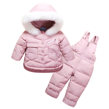 2019 Winter Children's Clothing Set for Baby Girl Winter Jumpsuit Down Jacket for Girls Boys Coat Clothes Thicken Ski Snow Suit цена и фото