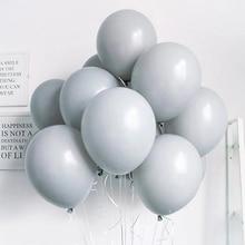 10pcs Grey Macaron Balloons 10 Macaron Candy Balloon Pastel Colorful for Baby Shower Wedding House Moving Anniversary Birthday macaron