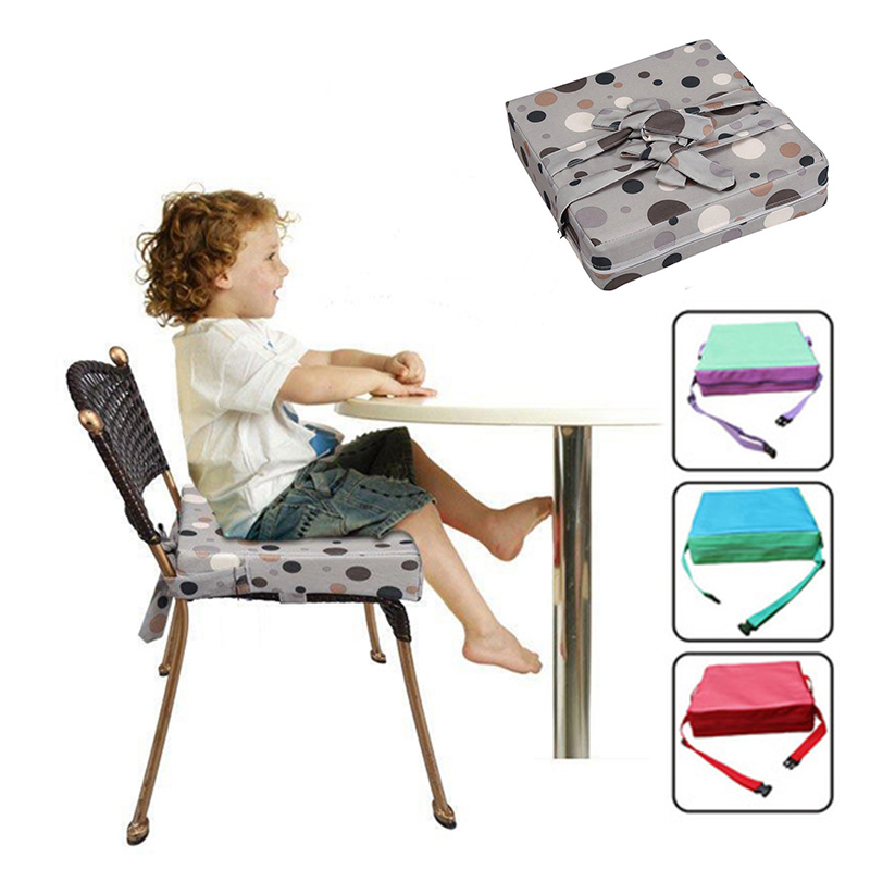 Baby Dinner Seats Cushion High Chair Mats Increased Children Height Dinning Chair Soft Cushion Foldable Infant Safety Belt