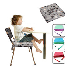 Baby Dinner Seats Cushion High Chair Mats Increased Children Height Dinning Chair Soft Cushion Foldable Infant Safety Belt(China)