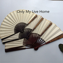 Red Carved Rice Paper Hand Fan Decoration White Chinese Bamboo Folding Adult DIY Personalised Wedding Fans 7-12 10pcs/lot