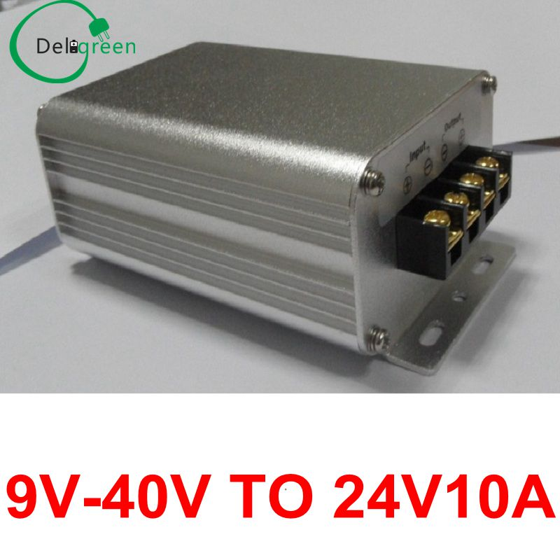 9V-40V to 24V 10A Boost Buck DC-DC Converter Step-Up Step-Down Power Regulators Waterproof Module Car Power Supply 10pcs converter dc 24v 18v 36v to 24v 10a dc boost buck power module voltage regulator rosh ce waterproof