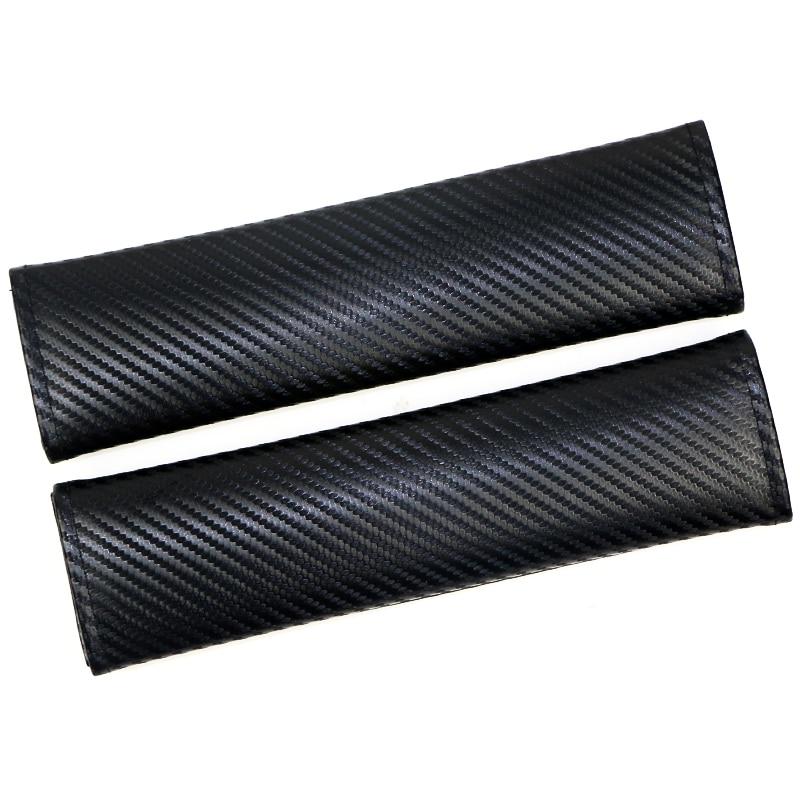 50pair DIY Automobiles Carbon fiber Car Seat Belt Shoulder Pads Fluffy Harness Seatbelt Seat Covers Car