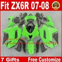 Full Fairing Kit For Kawasaki ZX6R 2007 2008 Motorcycle Fairings ZX 6R 07 08 Ninja 636