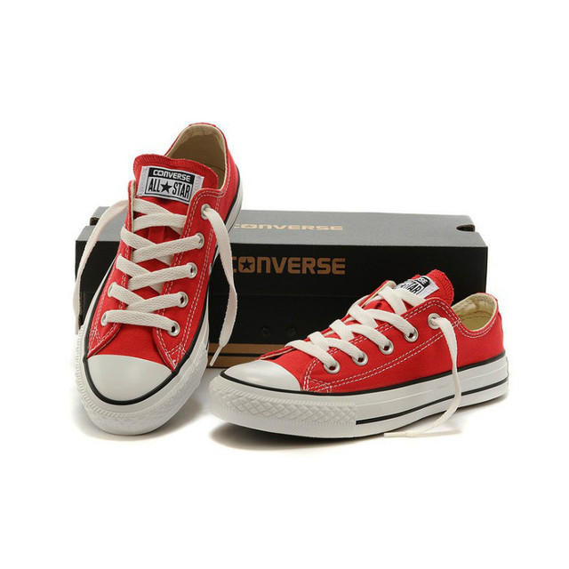 0b60542830 US $78.66 |2018 new Original CONVERSE ALL STAR canvas shoes women men's  unisex red colors sneakers classic Low Skateboarding -in Skateboarding from  ...