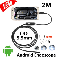 5pcs Lot Micro USB Android OTG Phone Endoscopio 2M 5 5mm Lens Inspection Pipe 720P HD