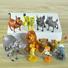 2019 New 12pcs/Set The Lion King Simba Nala Timon Model Figure PVC Action Figures Classic Toys Best Christmas Gifts