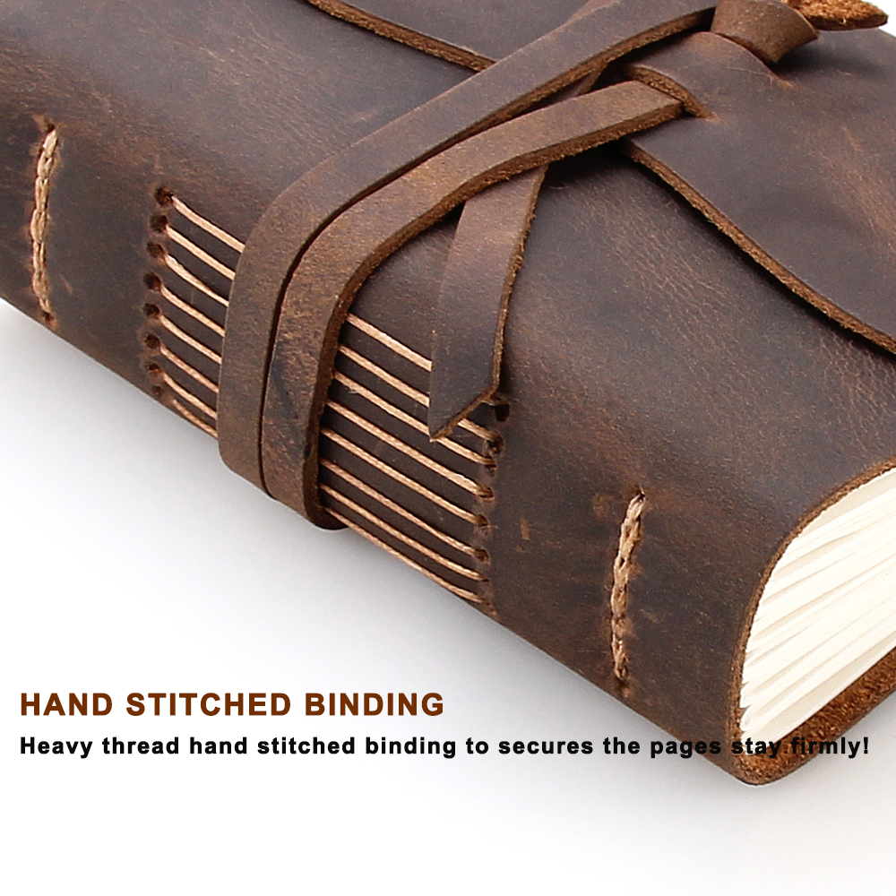 Leather journal travel notebook 4