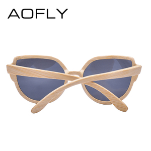 Image 4 - AOFLY BRAND DESIGN Sunglasses Womens Bamboo Polarized Sunglasses HAND MADE Bamboo Frame Classic Gafas de sol Shades UV400 AF608